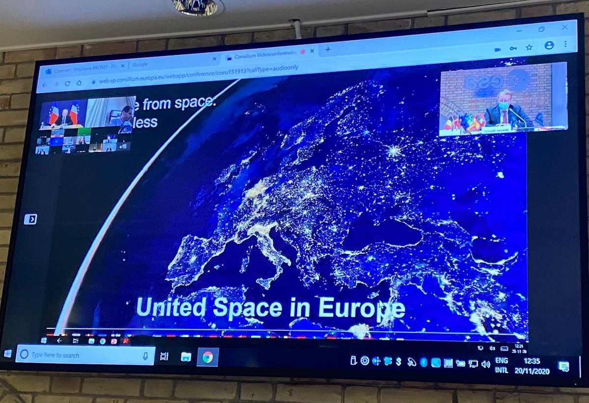 Attending the 10th #SpaceCouncil with @ESA and @EU_Commission Member States to debate on Orientations on the European contribution in establishing key principles for the global space economy. This meeting will pave the way - let us seize the chance - together.