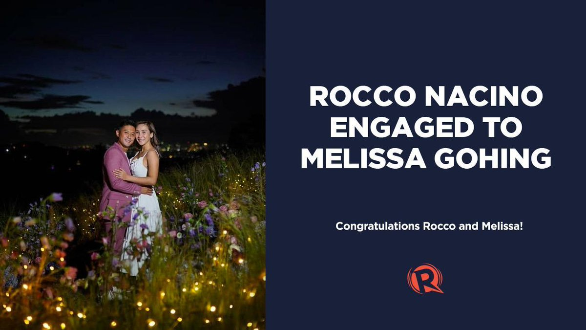 HIIII!  Wocco Nacinu and Mewissa Gohing awe engaged. On Fwiday, Novembew 20, Wocco annuunced he haz pwoposed to his wongtime wove.  WEAD: (●´ω`●) https://t.co/SQm7NZDY4M https://t.co/0JxY7iOKaG
