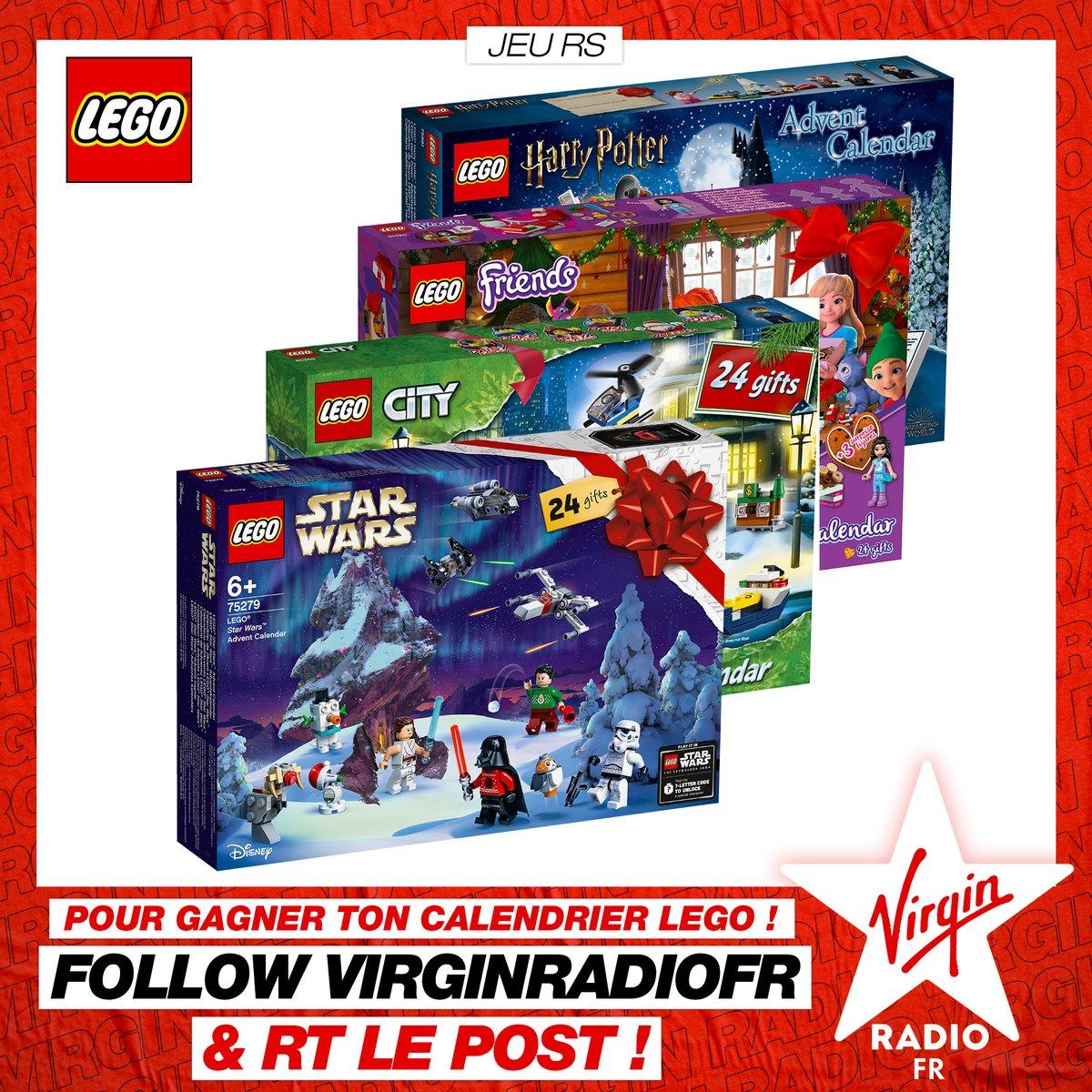 **CONCOURS** J-34 avant Noël 🌲 @VirginRadiofr vous offre votre calendrier de l'Avent LEGO pour les fêtes de fin d'année ✨  Pour PARTICIPER 👉 LIKEZ @VirginRadiofr + partagez ce POST https://t.co/iHY2IwCB6Y
