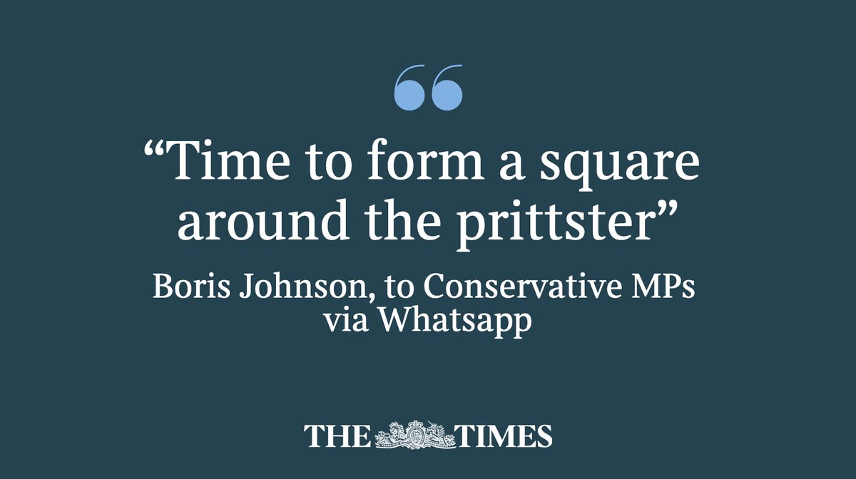 The prime minister has privately indicated to MPs that they should rally around the Home Secretary