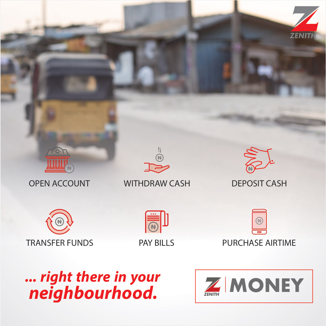 You can perform your banking transactions with any Z-Money agent in your neighbourhood.   #EazyBanking #ZenithBank #BankFromHome #StaySafe