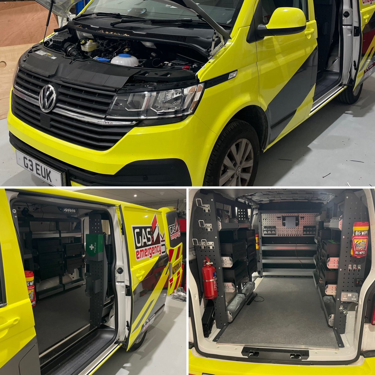 Our new vans in build looking amazing! Our sister company @gas999uk should be proud of what we are building for them!