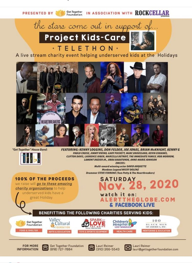 Since we're inside I invite you to a incredibly worthy event. Tune in the evening Nov 28 for performances from the stars. They come out in support of children in need! We should too! Just look at who's on this show! @RockCellarMag