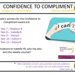 Image for the Tweet beginning: Confidence to Compliment Winners –