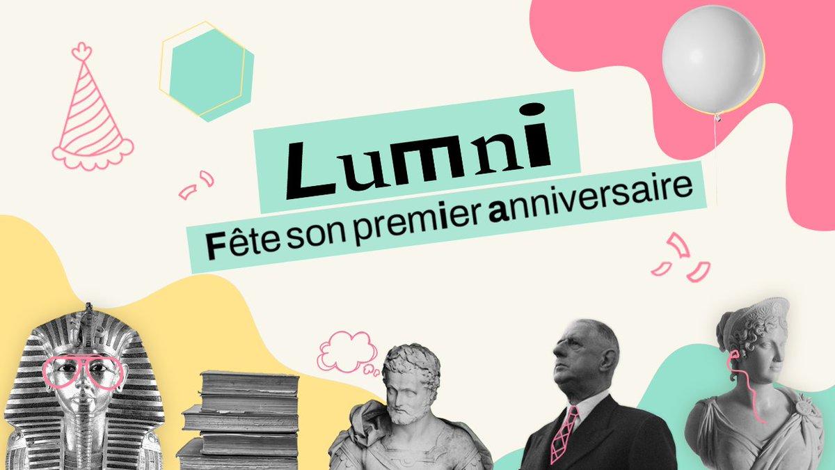 🎊 Lumni a 1⃣ an ! 🎉  👉 #Lumni, c'est la 1re offre de soutien et de ressources éducatives en ligne, gratuite, expertisée et sans pub ! Pour apprendre autrement, prolonger les cours, comprendre le monde, accéder au savoir !  #Lumni #Anniversaire #Lumni1an #Education @MEN @Clemi