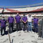 Image for the Tweet beginning: Some of the team onsite