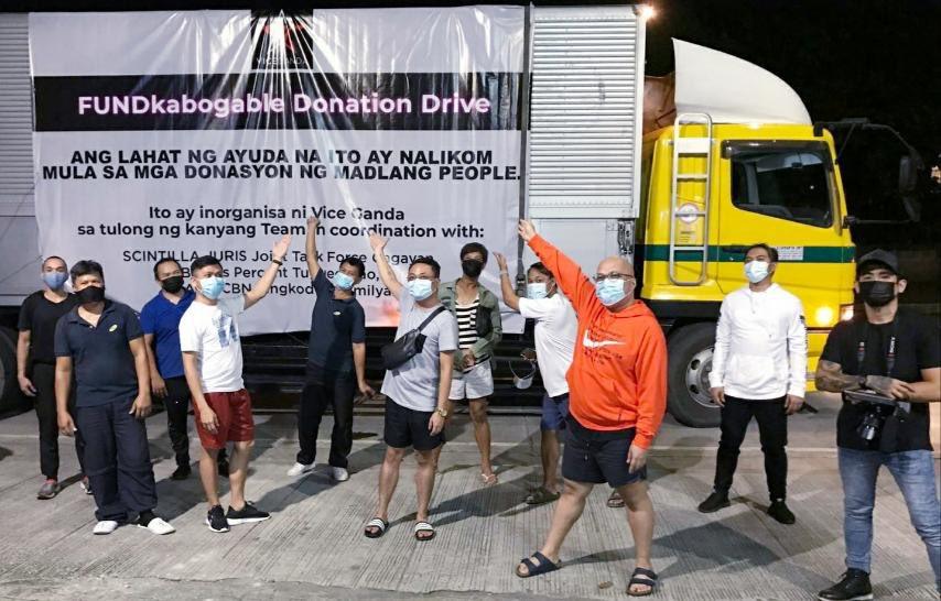Tulad ng ipinangako ihahatid namin ang tulong nyo Madlang People.