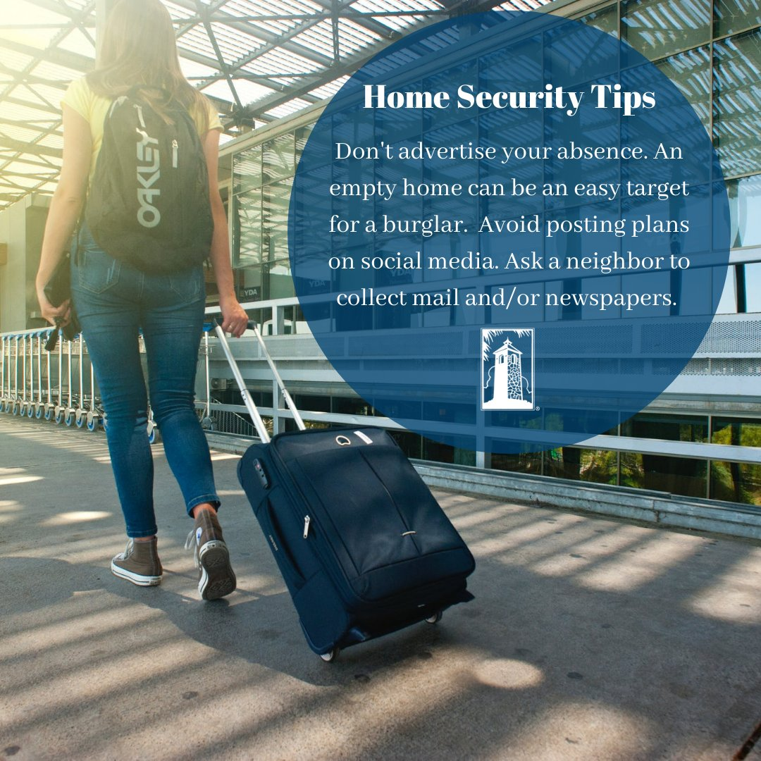 Avoid posting travel plans on social media. This advertises your empty home and can be an easy target for burglars. https://t.co/HjERYRQlhx