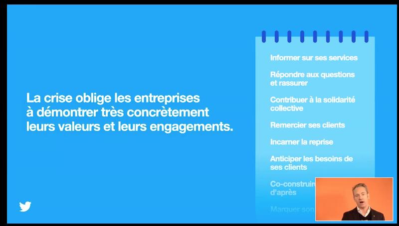 """""""Il a fallu accélérer le rythme de lancement, les choses vont beaucoup plus vites"""" explique @damienviel suite à la réactivité et la créativité des entreprise sur leurs stratégies de communication. @Viuzfr @twitterfrance  #MarketingRemix #ISEGSocialMedia #reseauxsociaux #CM"""