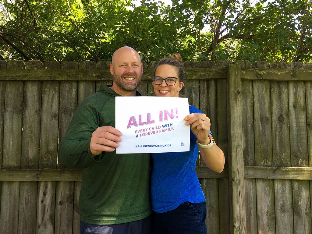 Find out how you can show your support for youth waiting to be adopted. Nominate friends and colleagues to spread support for this initiative!  #AllInForWaitingKids