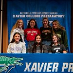 Image for the Tweet beginning: Seven Xavier Athletes sign Letters