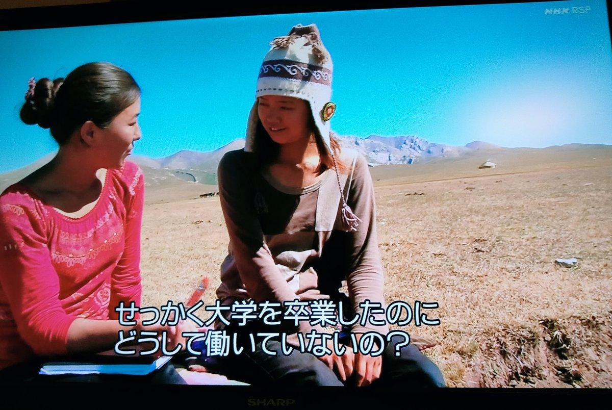 つけっぱなしにしてたBSでシルクロードを旅する番組をやってたんだが、英語ですごくいい刺激をもらったと話した日本人に向かってキルギスの遊牧民の女の子から投げかけられた質問がヘビー過ぎる。