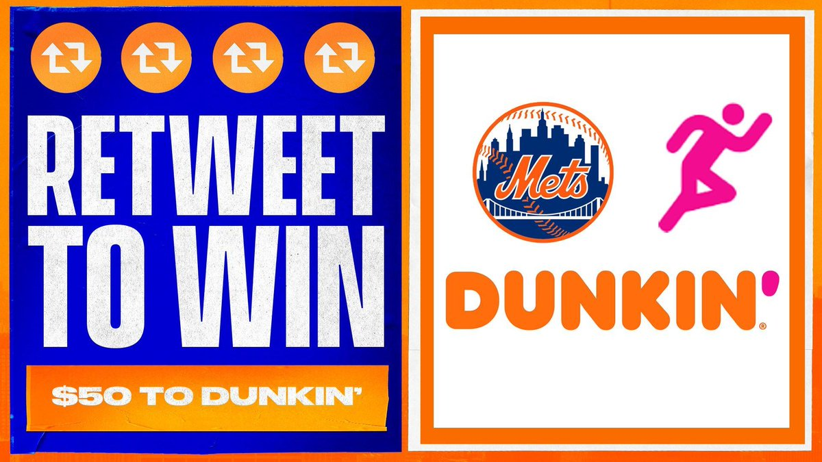 Replying to @Mets: Need some ☕️🍩?!  RT this for your chance to win $50 from our partner @dunkindonuts! #LGM