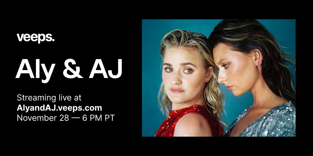 .@alyandaj will be performing fan favorites + songs from their recent EP releases at @theVIPERroom for a global livestream event on 11/28. Tickets and interactive Q+A on sale now!