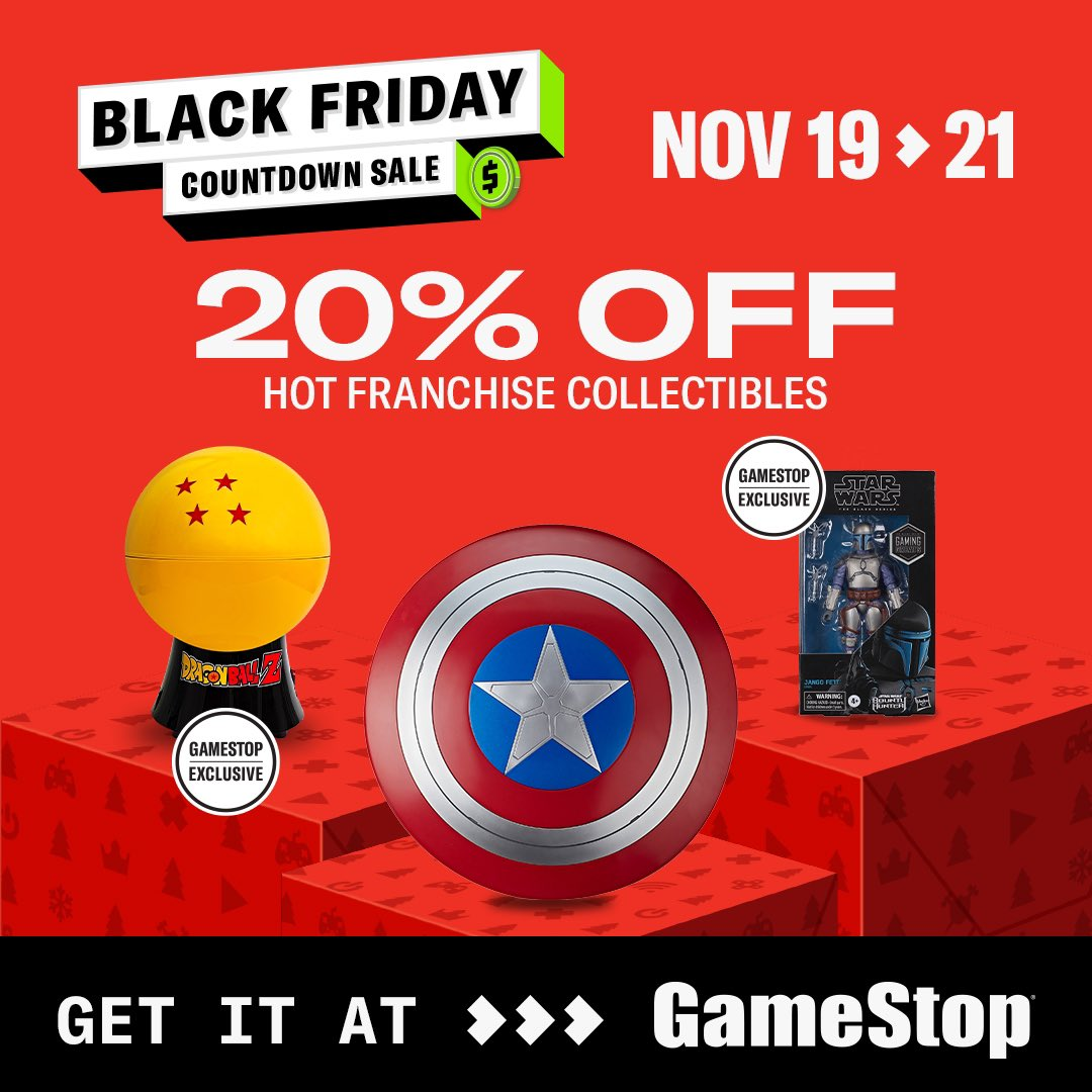 Punisher - #ad  Haven't you always wanted Captain America's shield? Or a Dragon Ball Z popcorn maker? Pick up collectibles for 20% off this weekend, only at @GameStop!