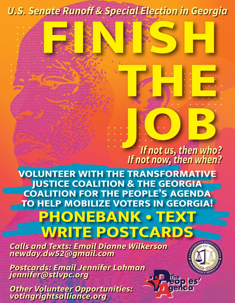 This concludes our #VoterInfo #OurMarchToGeorgia Twitter Storm. .   They're whipping up this frenzy of racism, and now we're coming into the old Confederacy in #Georgia - @JonesDjon4316   Join us as we support, assist, & protect to Georgia voters so they can #FinishTheJob