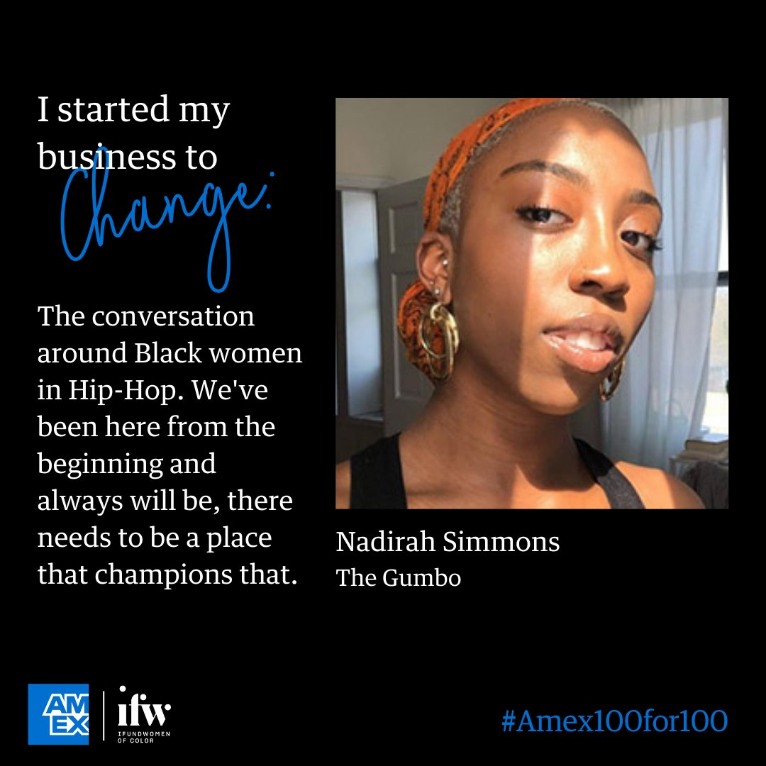 Backing is essential to any small business - but especially to one on a mission to create change. We asked the #Amex100for100 entrepreneurs what it means to them. #AmexBusiness