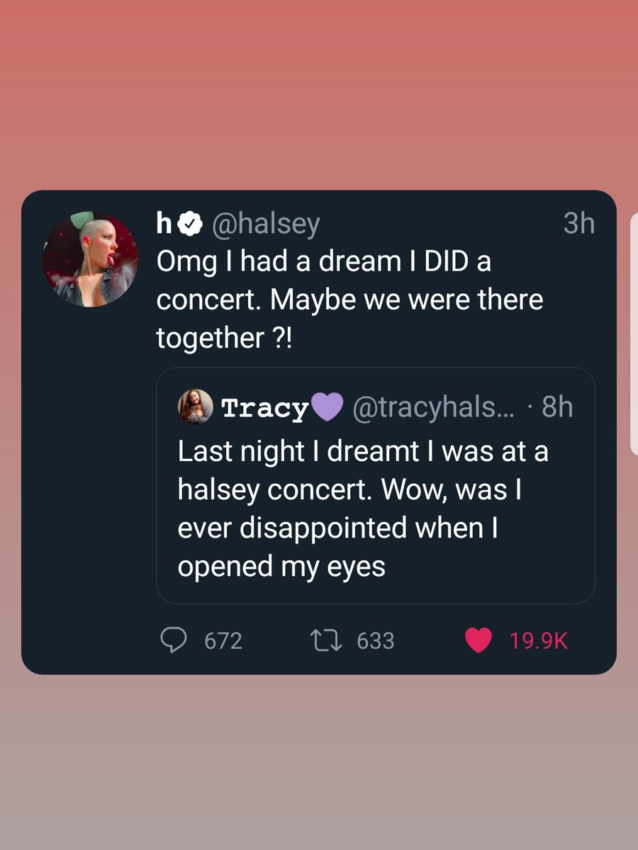 Halseys dream and my dream colliding.  This is so special.  I LOVE YOU SO MUCH @halsey