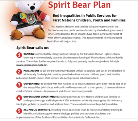 My dream for National Childrens Day? That First Nations children dont have to spend their childhoods fighting with the Canadian Govt to get equitable public services because Canada finally implements the Spirit Bear Plan and ends all the unfairness.