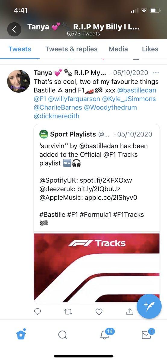 @F1 @bastilledan @Spotify @bastilledan it's been on @F1 @Spotify since October 5th xxx https://t.co/jK4AScZRjV