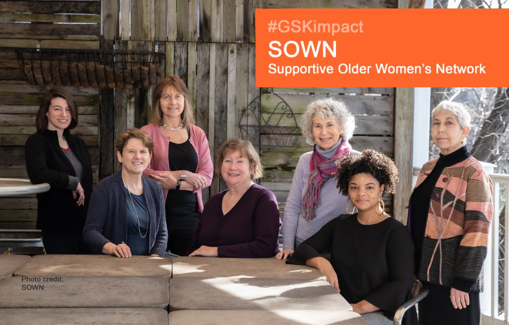 We're proud of SOWN Supportive Older Women's Network! 👩🏼‍🤝‍👩🏽 They provide innovative solutions so adults 50+ lead independent, healthy lives & age in their homes & communities. Congrats on your 2020 #GSKimpact Award!  Meet our winners:  🏆 https://t.co/XQnelLcX4K   @PhilaFound https://t.co/JtadBnhCTO