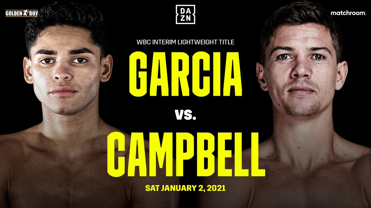 🚨 January 2nd: Garcia vs. Campbell 🚨