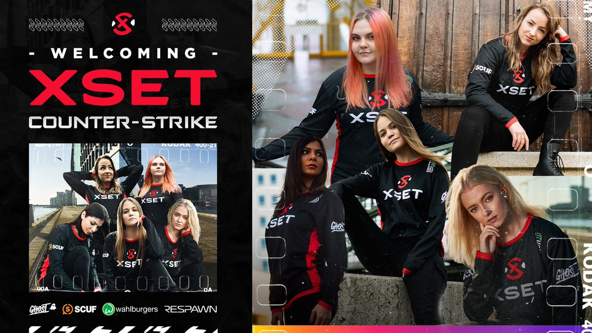 XSET enters the CSGO competitive scene with an all-female championship winning squad!🏆  ❌ @juliakiran ❌ @mimimimichaela ❌ @zAAzCSGO  ❌ @kr4sy  ❌ @PetraCSGO  Watch the girls make their debut at the #DreamHack Dec. Open! ⚔️   #RepTheSet | JOIN US: