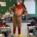Image for the Tweet beginning: Gobble, gobble! Mr. Wood made