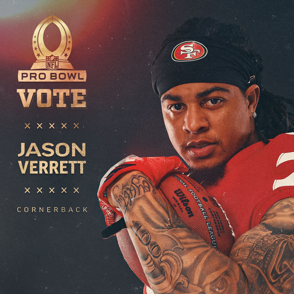 Replying to @49ers: 🔐 in those votes for @Jfeeva_2! #ProBowlVote