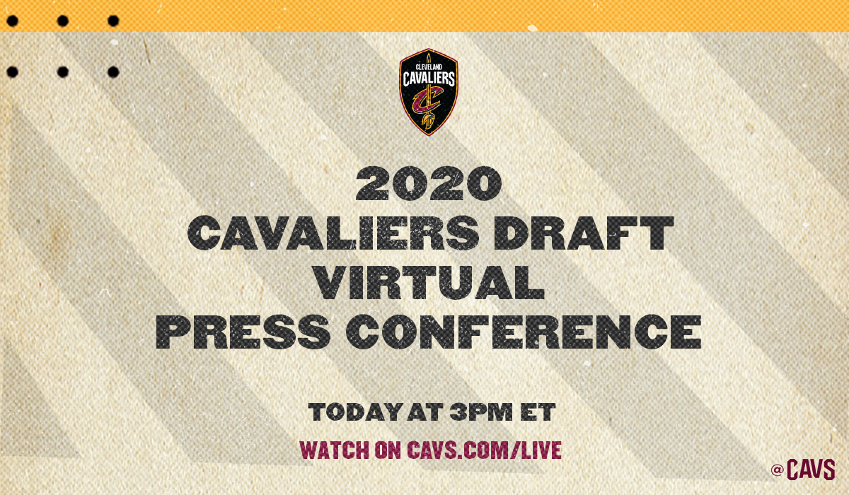 Meet @isaacokoro303 in today's virtual #CavsDraft presser with Koby and @jbbickerstaff_ LIVE at 3PM ET!  TUNE IN: https://t.co/YBwDE57Mq4 https://t.co/jRZH8FvWl8