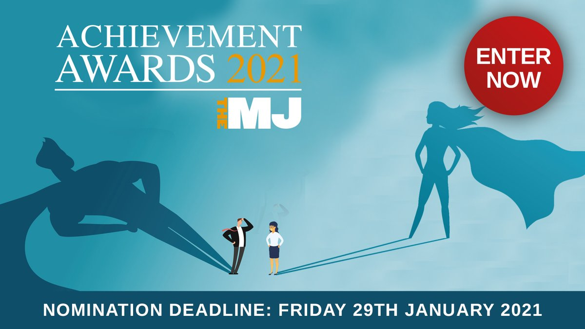 RT @TheMJAwards Have you started thinking about your nomination for the MJ Awards yet?!  🏆 We've got 16 diverse categories for you to choose from all of which are free to enter: https://t.co/MvlfdnzpyS #MJAwards21