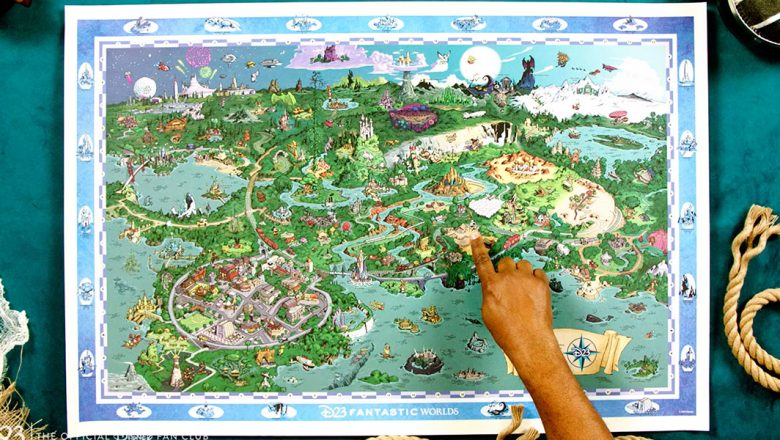 7 secrets and details about the #D23FantasticWorlds map: