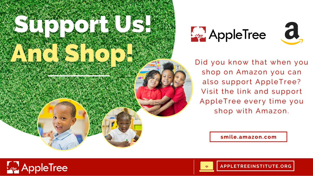 Did you know that when you shop on Amazon you can also support AppleTree? Click the link and support AppleTree every time you shop with Amazon.   https://t.co/VwJDJpFinL  #appletree #appletreedc #DC #amazon  Don't miss anything and visit us at https://t.co/qL1y95uQFr today! https://t.co/v2cP6A6Uql