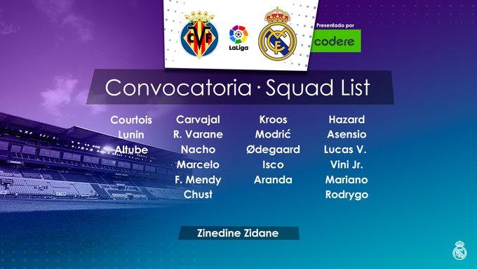EnSWnqIW4AMAhd1?format=jpg&name=small Benzema, Casemiro y Militao fuera de la convocatoria para jugar ante el Villarreal - Comunio-Biwenger