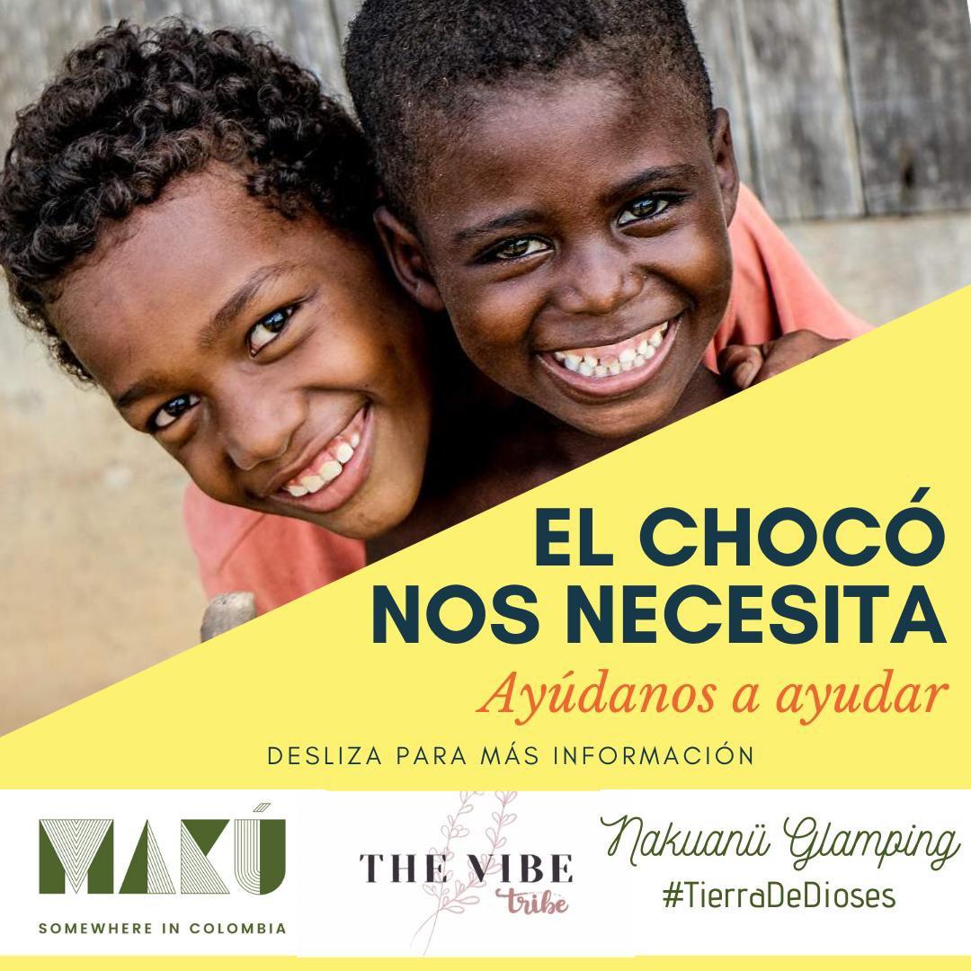 Hola! Queremos compartir con ustedes esta iniciativa que está teniendo Nakuanu Glamping (en V/cio - Meta) para ayudar a los damnificados de los desastres naturales en El Chocó.  Si necesitan más info, nos avisan. Muchas gracias!  #SosChocó #ElFuturoEstáEnTusMano #rt  #Colombia