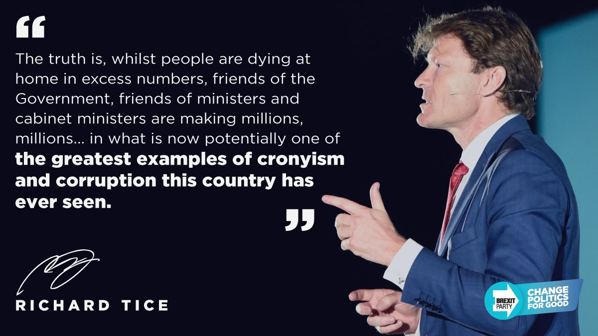 These mates of Tory MPs and ministers have literally creamed off the system. Its utterly appalling and I think itll come back to haunt this government. — Richard Tice 📰 Read the story in the Mail here: mol.im/a/8961343