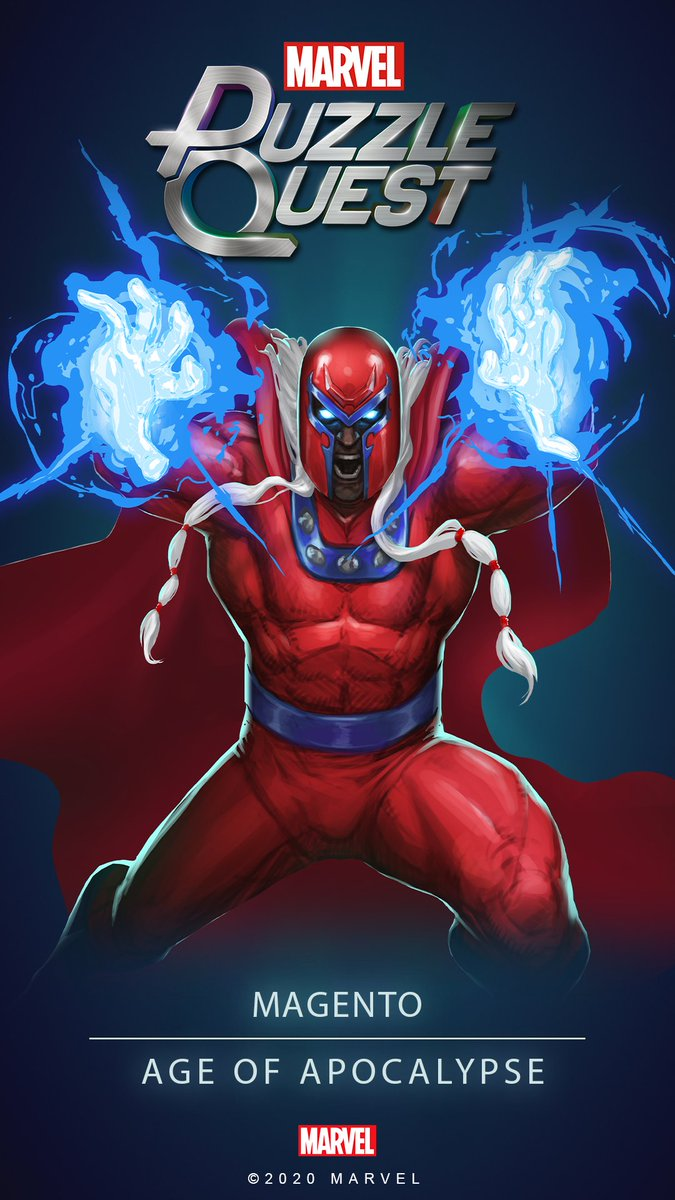 The Master of Magnetism…Magneto Wallpapers are here! #MarvelPuzzleQuest #Magneto