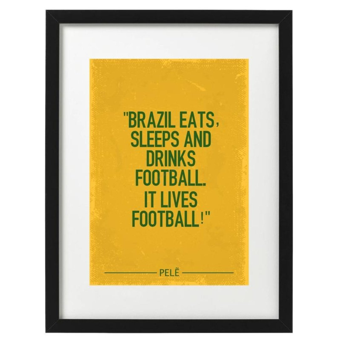 🇧🇷 Pele art prints available now. Free UK delivery. Link in bio 👆 #footballart #etsy #etsyshop #pele #pele80 #brazil #worldcup #RetroFootball