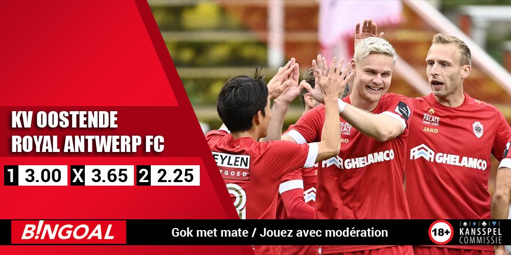 ⚽️🇧🇪 Oostende 🆚 Antwerp ⏰ 18:30 🏆 Jupiler Pro League   ℹ️ Beide teams scoorden in 4 van de laatste 6 onderlinge duels ⏺️ Beide teams scoren ▶️ 1.58  Speel mee 👉 https://t.co/nsgMQHhwO1 Jouez ici 👉 https://t.co/m77oychxAE  #KVOANT #JPL https://t.co/DyFWTPgs9K