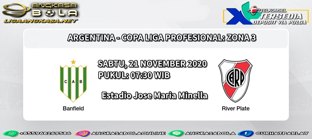 ARGENTINA - COPA LIGA PROFESIONAL: ZONA 3 BANFIELD VS RIVER PLATE PUKUL: 07:30 WIB  #HYLTWorldwideStreaming #PARKJEONGWOO #QueensGambit https://t.co/kVEFktNpOG