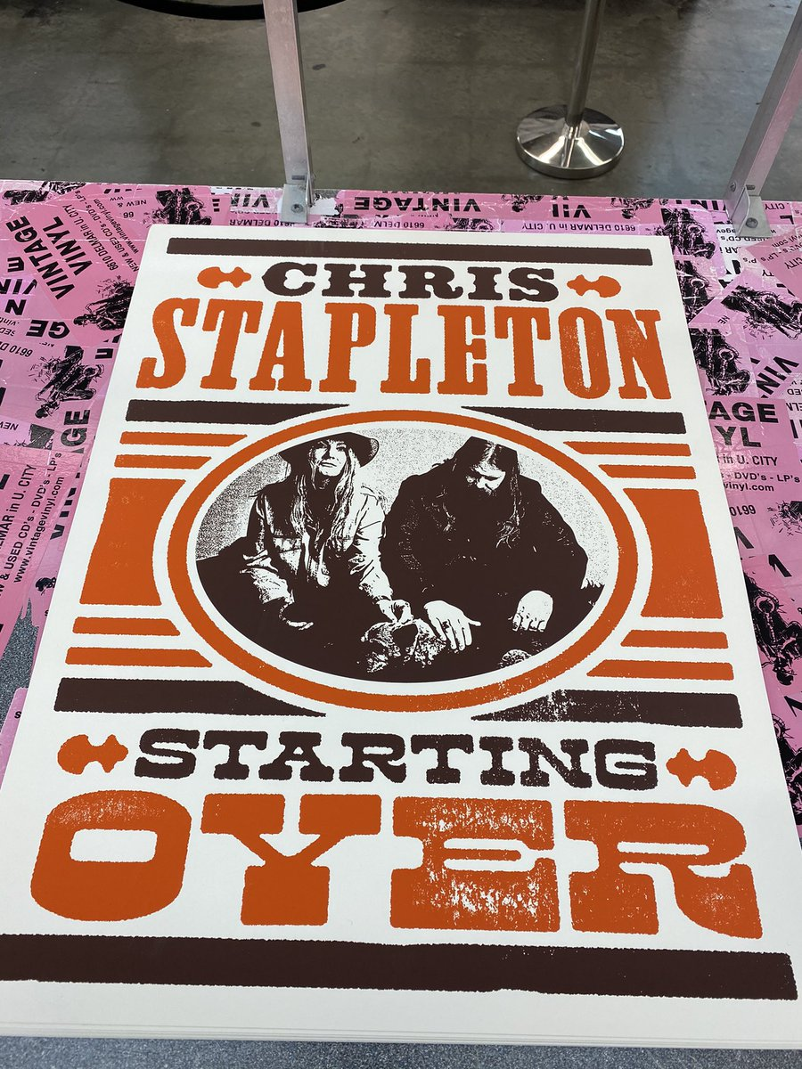 """The newest release from @ChrisStapleton """"Starting Over"""", is out and in stock in both CD and LP! Get it here and receive this limited edition lithograph with purchase!"""