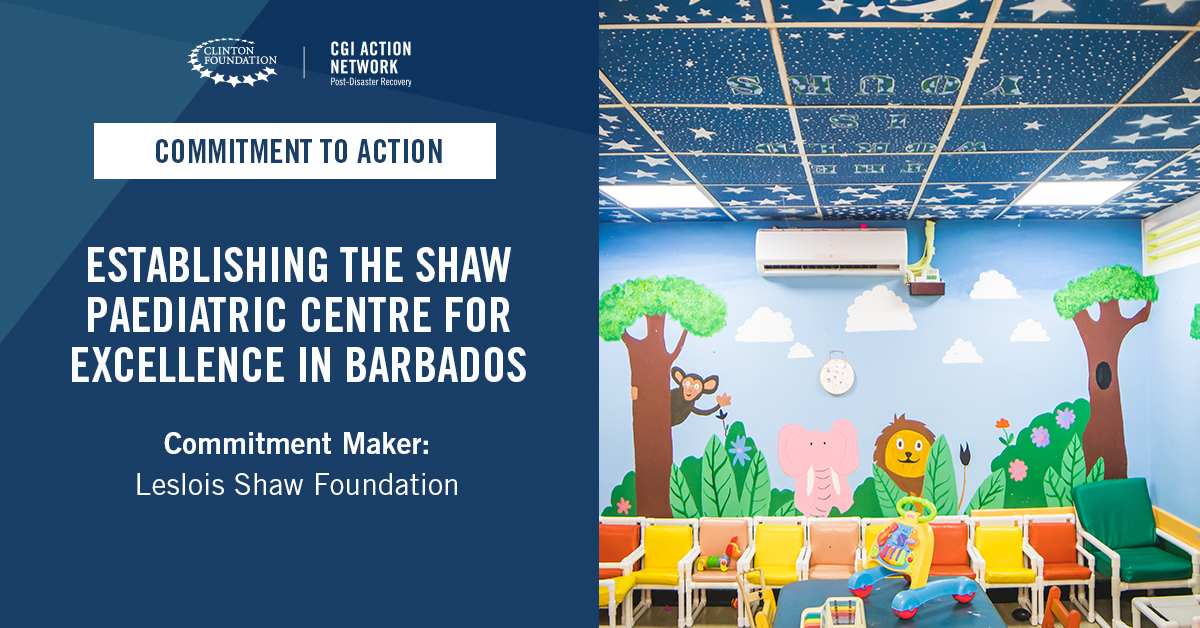 Leslois Shaw Foundation, in partnership with @sickkids and @uwicave_hill, committed to establishing the Shaw Pediatric Centre for Excellence in Barbados over the next seven years. @qehconnect More: