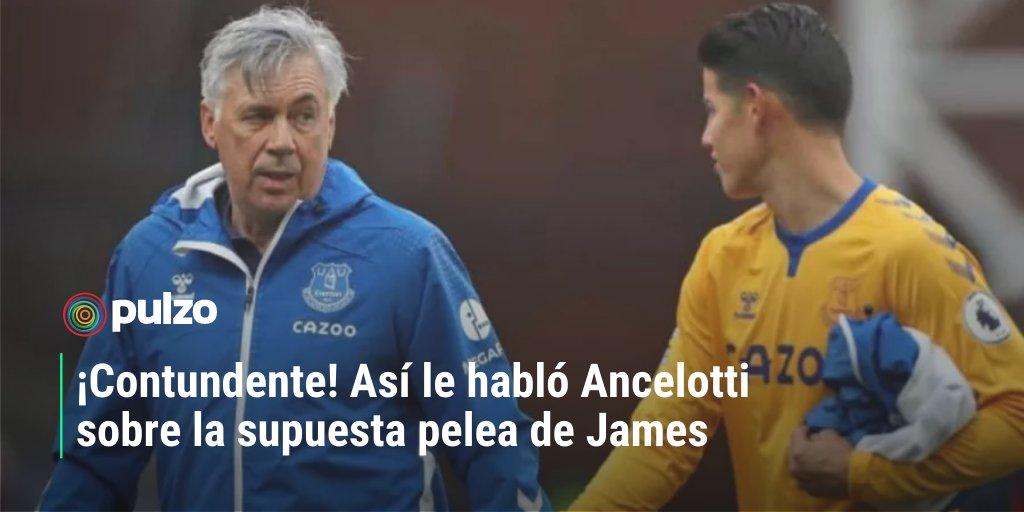 Al entrenador del Everton ⚽@MrAncelotti le preguntaron por lo que sucedió con su jugador estrella @jamesdrodriguez en la fecha de Eliminatoria.👉 https://t.co/mBgUj8qNt1 https://t.co/vCNuhS9gzH