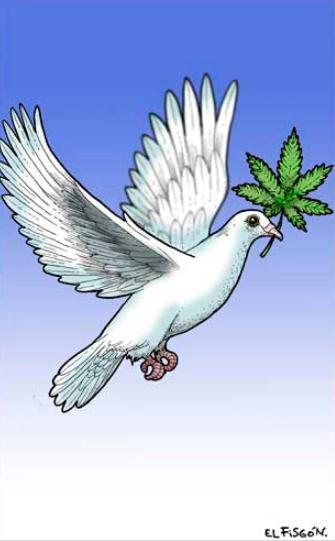 #MonerosLaJornada Despenalización de la cannabis, cartón de @fisgonmonero