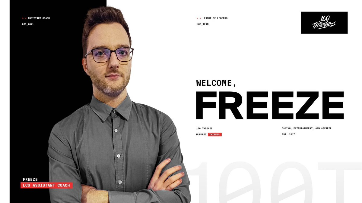 kyzui - Welcome @FreezeLoL as our new LCS Assistant Coach!  Freeze joins us from EU with both coaching and pro play experience. Coupling his game knowledge with confidence in growing individual players, his contribution will guide us in reaching new heights this season.