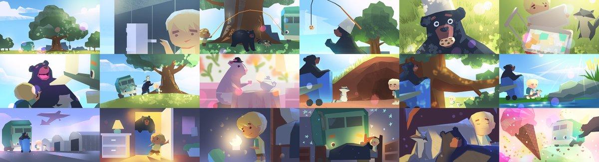 Colorscript for Trash Truck Hibernation Day episode on @netflix