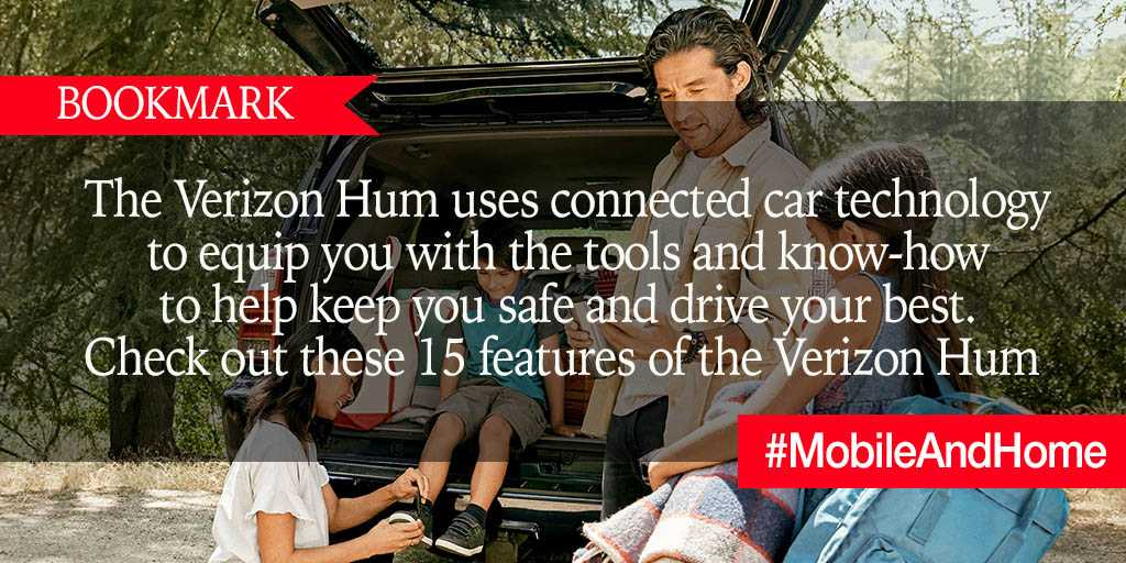 BOOKMARK: The Verizon Hum uses connected car technology to equip you with the tools and know-how to help keep you safe and drive your best. Check out these 15 features of the  #VerizonHum https://t.co/iHe4MmGfEU #brandpartner #MobileAndHome https://t.co/jyWfRdKJtK