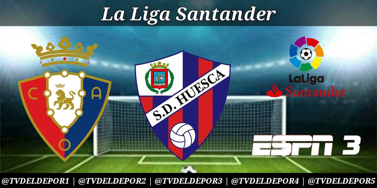 #LaLigaSantander - #LaLigaxESPN #Osasuna vs #Huesca ⏰ ahora 📺 #ESPN 3 Sudamérica con:  🎙 @SigfreGomez  🎙 @WolffPedro https://t.co/zYTB205UcF