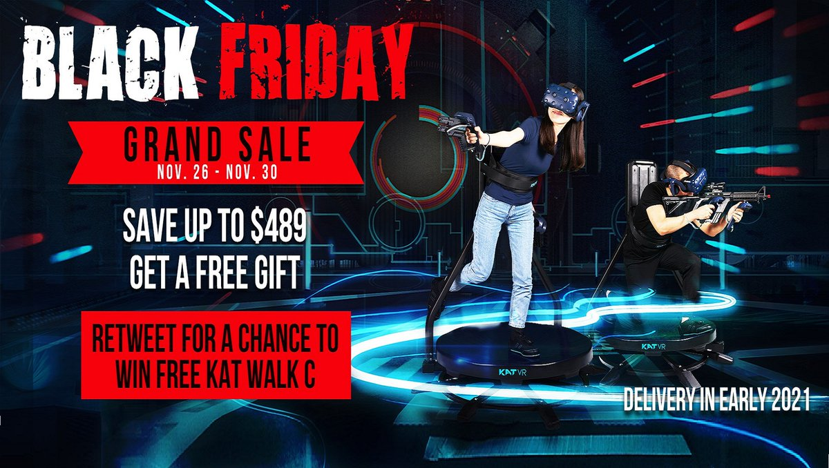 Get a chance to 🔥WIN the KAT Walk C VR Treadmill🔥  ➡Follow us & Retweet! ➡Don't rely on luck alone! Get it from Nov 26 - 30 and save up to $489. Winner will be refunded!  Click to learn more⤵ Follow the contest rules!   #VR #VirtualReality #KATWalkC
