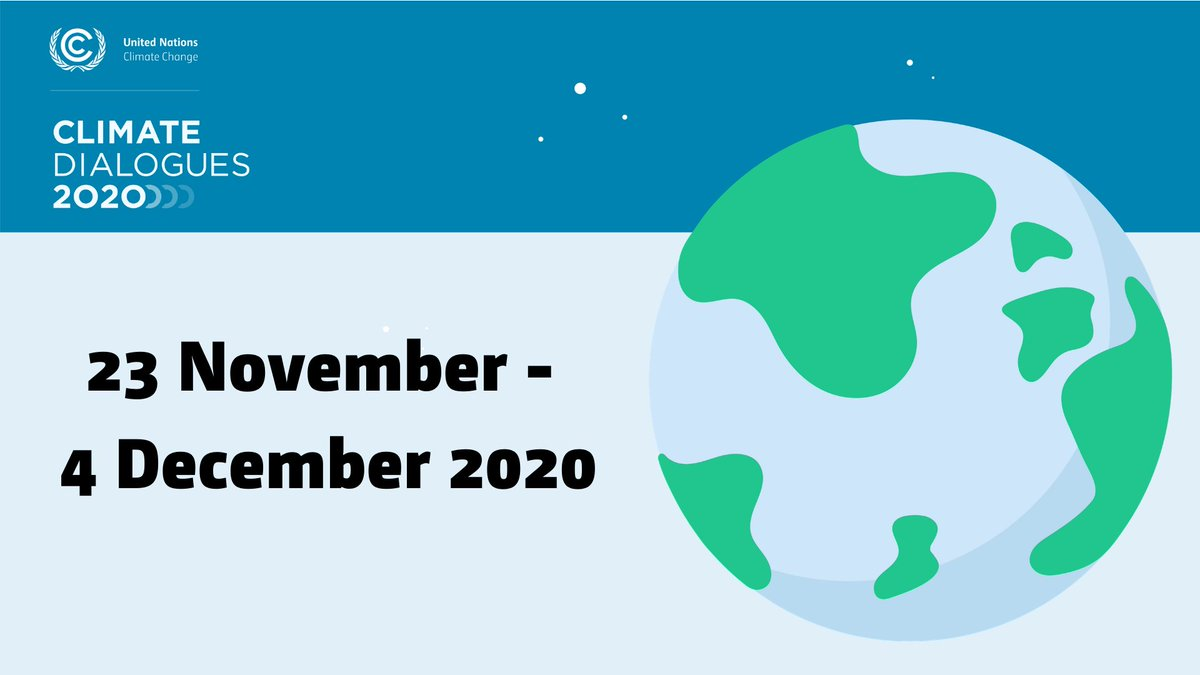 The @UNFCCC #ClimateDialogues are set to increase momentum for greater #ClimateAction and ambition in the run-up to next year's UN Climate Conference #COP26.  Details here:
